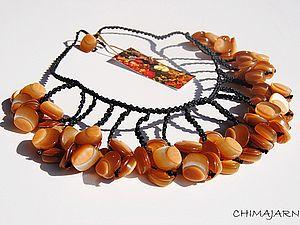Украшение из пуговиц - Ярмарка Мастеров - ручная работа, handmade