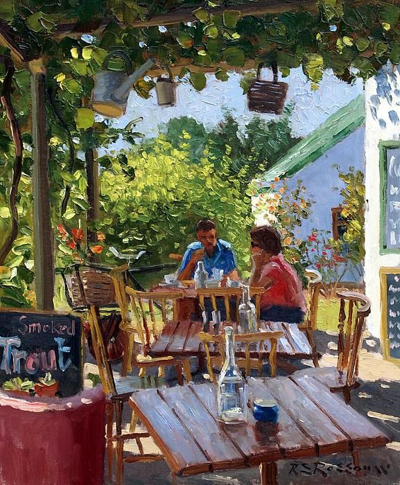The Coffee Shop Painting  - The Coffee Shop Fine Art Print