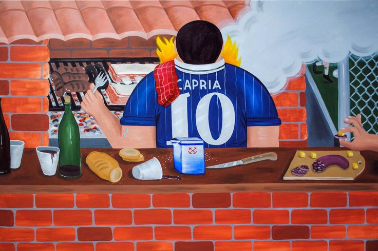 Even the beautiful game can seem blandly homogenous to those who watch every weekend of the year. But Argentinian artist Martin Gordopelota is breaking the monotony by shifting our gaze to the brilliant idiosyncrasies of his neighborhood fútbol. On canvases and walls all over Buenos Aires, he glorifies the longstanding traditions around local five-a-side: copious beers, halftime cigarettes, post-match aside, and occasional showcases of actual skill. For him, and many porteños, these games…