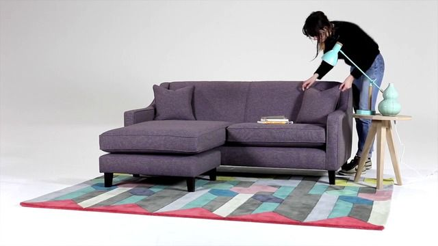 Halston Corner Sofa, Teal Weave