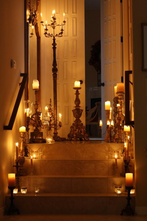 great romantic lighting - adding candelabras of different heights