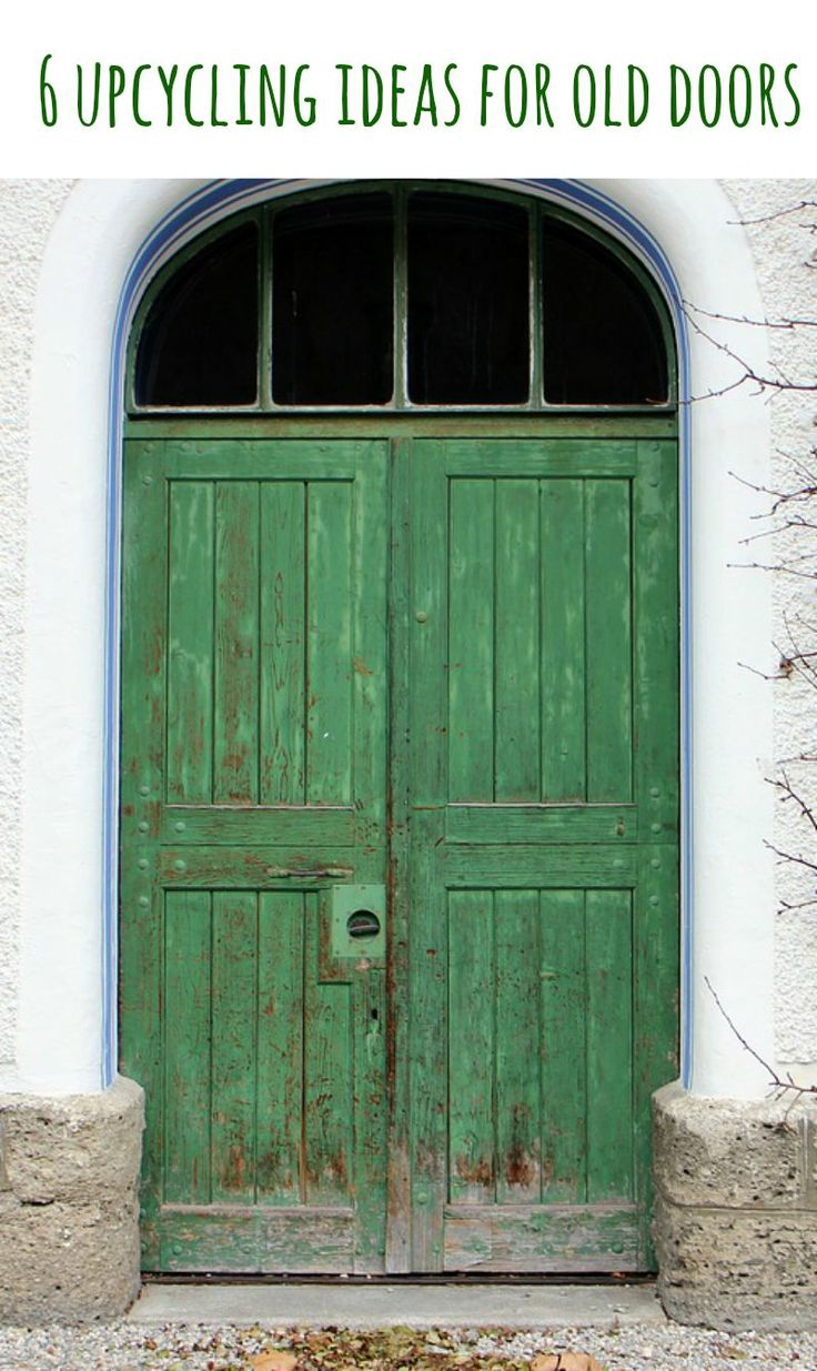 Some lovely ideas for upcycling old doors, upcycled doors are a great way to…