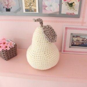 Big poire déco au crochet www.ateliernat.com Décoration & accessoires