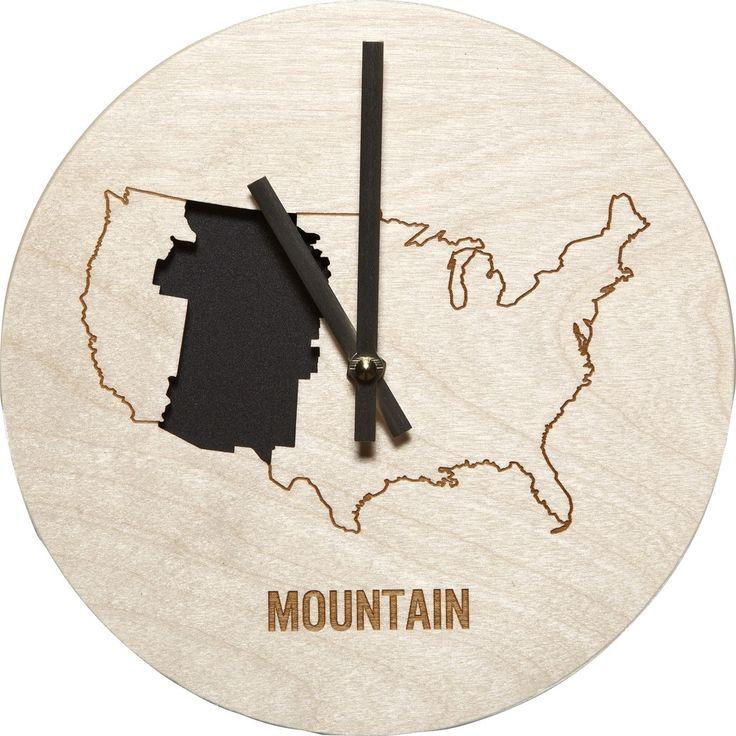 Reed Wilson Design Mountain Time Zone Clock | Baltic Birch