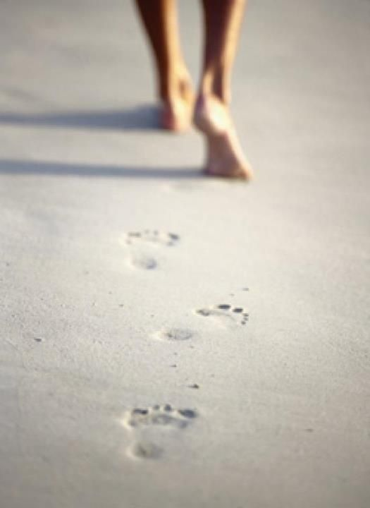 I leave but my footprints behind