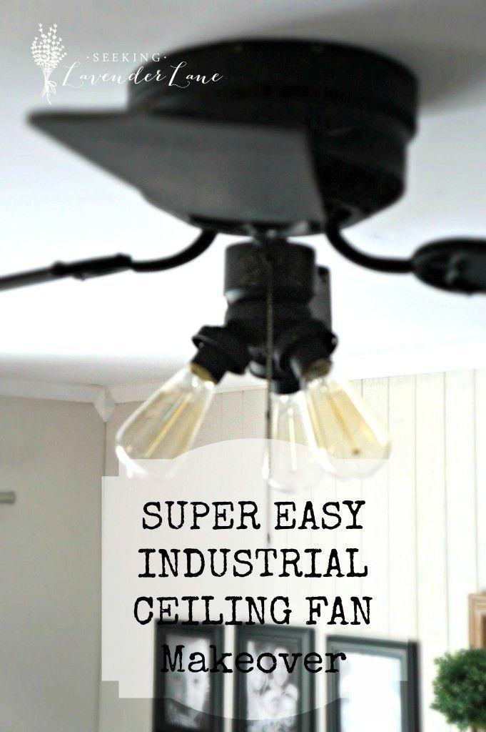 Best 25 Industrial Ceiling Fan Ideas On Pinterest