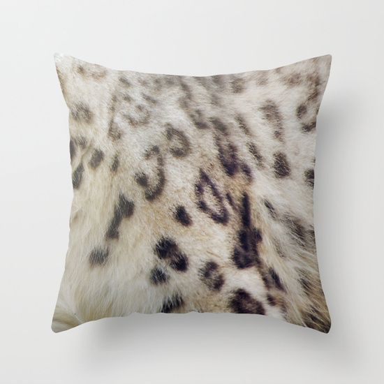 Snow Leopard Throw Pillow by Pauline Fowler ( Polly470 ) - $20.00