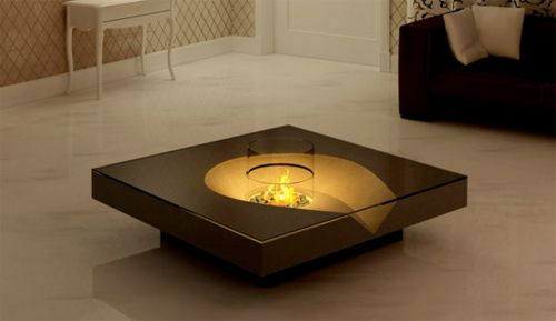 coole wohnzimmer bilder:Coffee Table with Fireplace