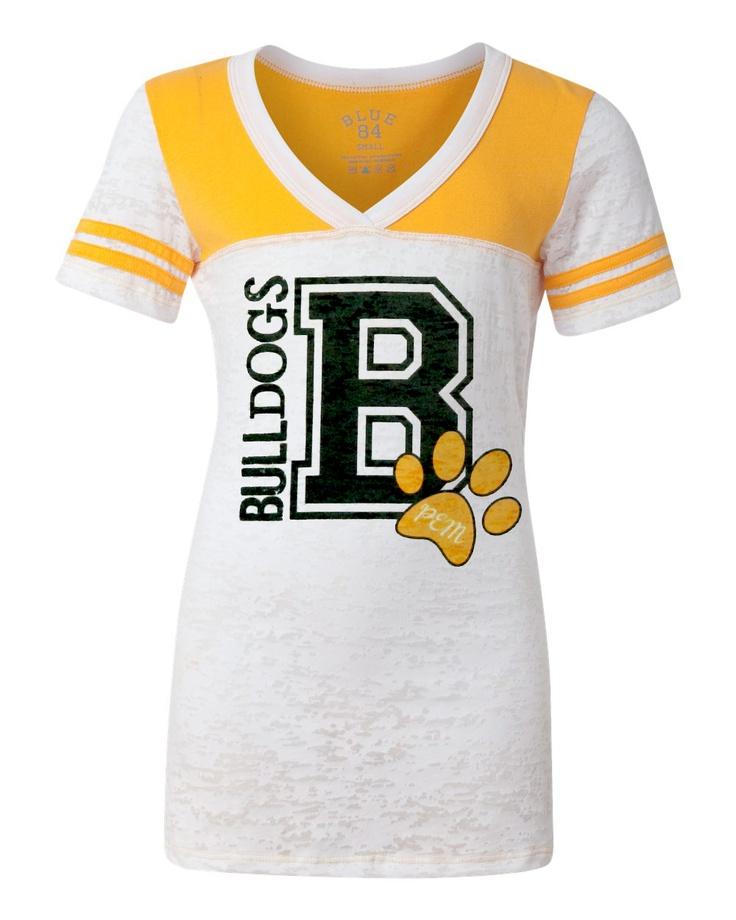 PEM Bulldogs Football Jersey V-Neck T-Shirt