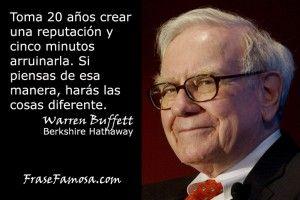 Frase Famosa - Frases de Reputación - Frases de Warren Buffett