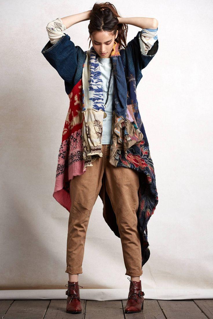 大判ストールがインパクト大!サルエルパンツのコーデ☆スタイル・ファッションの参考に♪