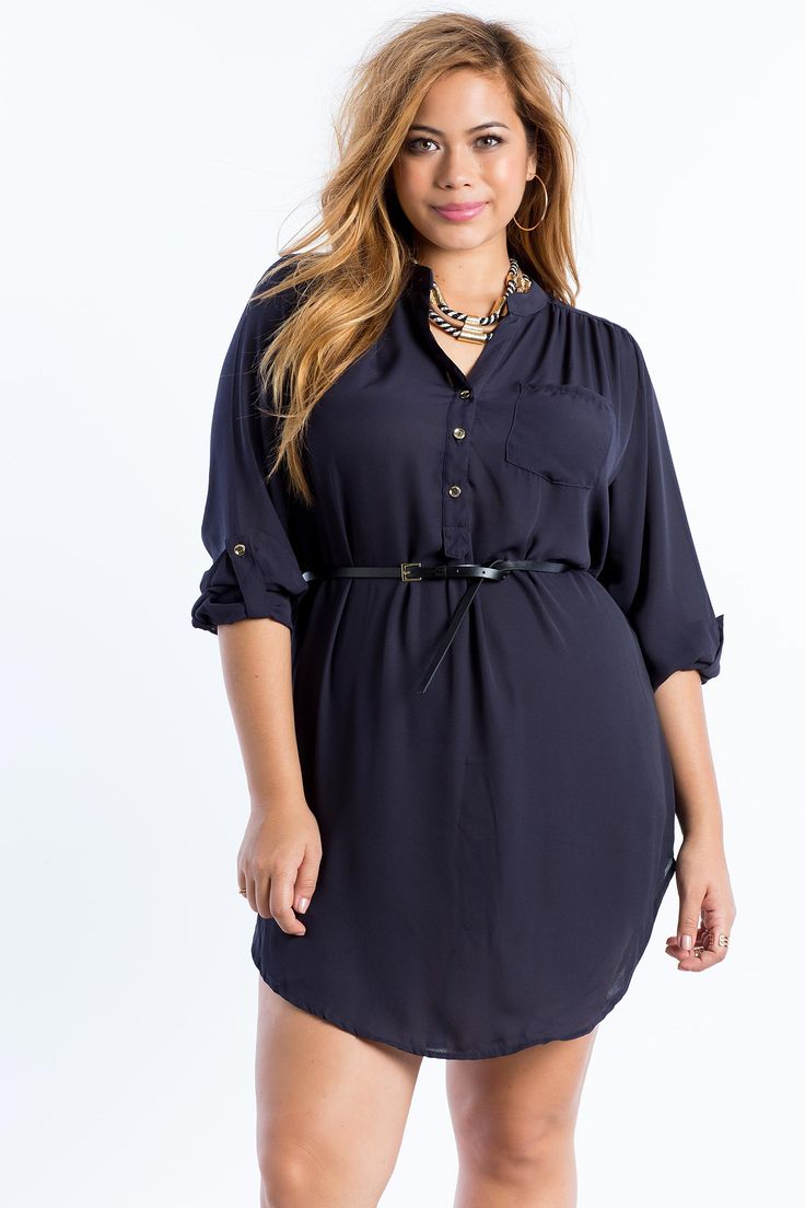 Women's Plus Size Casual Dresses | Keep it Classic Shirt Dress | A'GACI