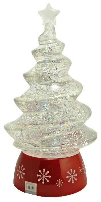 Magical Sparkling Swirling Christmas Tree Snow Globes Pinterest
