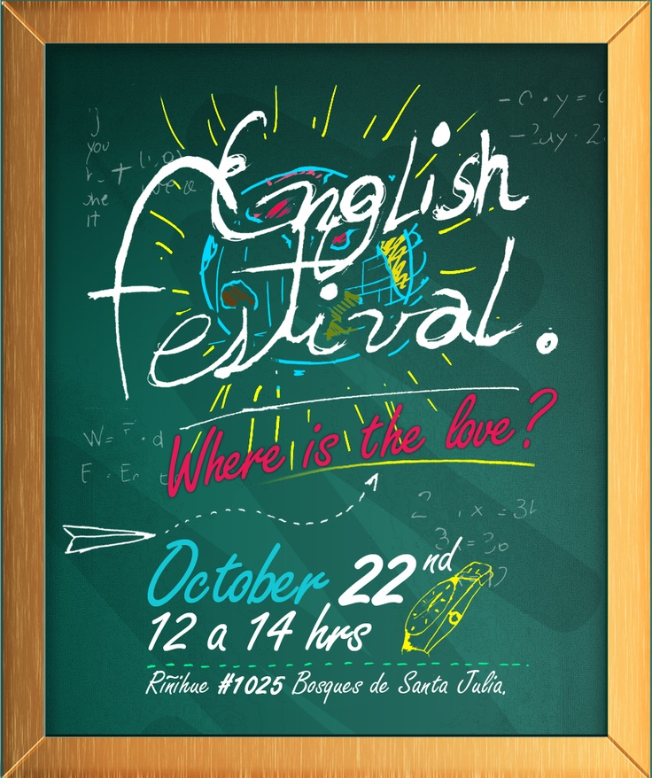 Flyer para English Festival 2010.