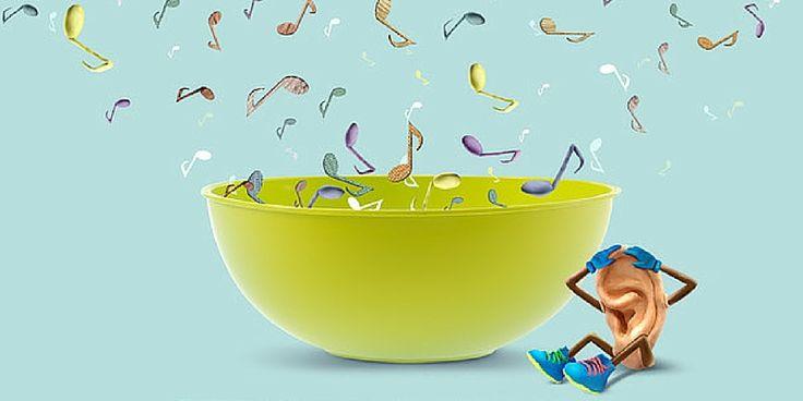 Saurez-vous identifier le bruit d'une balle de ping-pong, d'un danseur de claquettes, d'un robinet? Sound Salad, une application iPad pour enfant dès 3 ans.