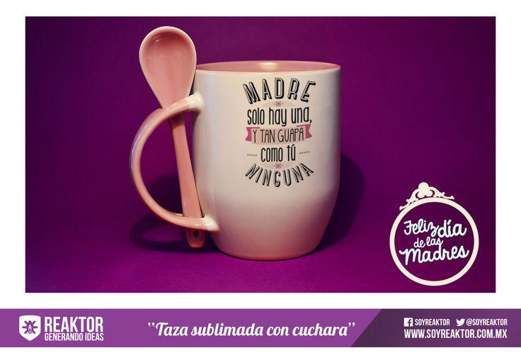 Taza con cuchara. #SUBLIMADA #DIA DE LAS MADRES