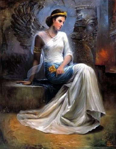 Queen Mandana, an ancient Persian Queen and mother of Cyrus the Great. So beautiful