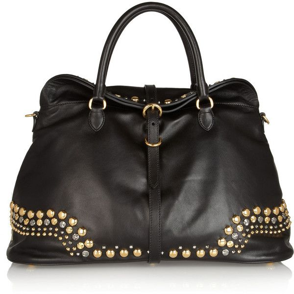 Miu Miu Studded leather tote