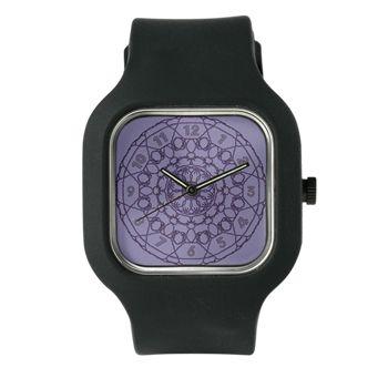 Lines Clock in Purple Watch