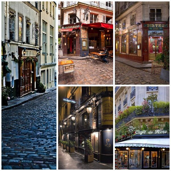 Various photos of places in Paris