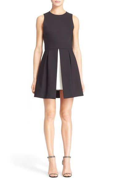 LOVE! Alice + Olivia 'Bria' Peplum Fit & Flare Dress available at #Nordstrom