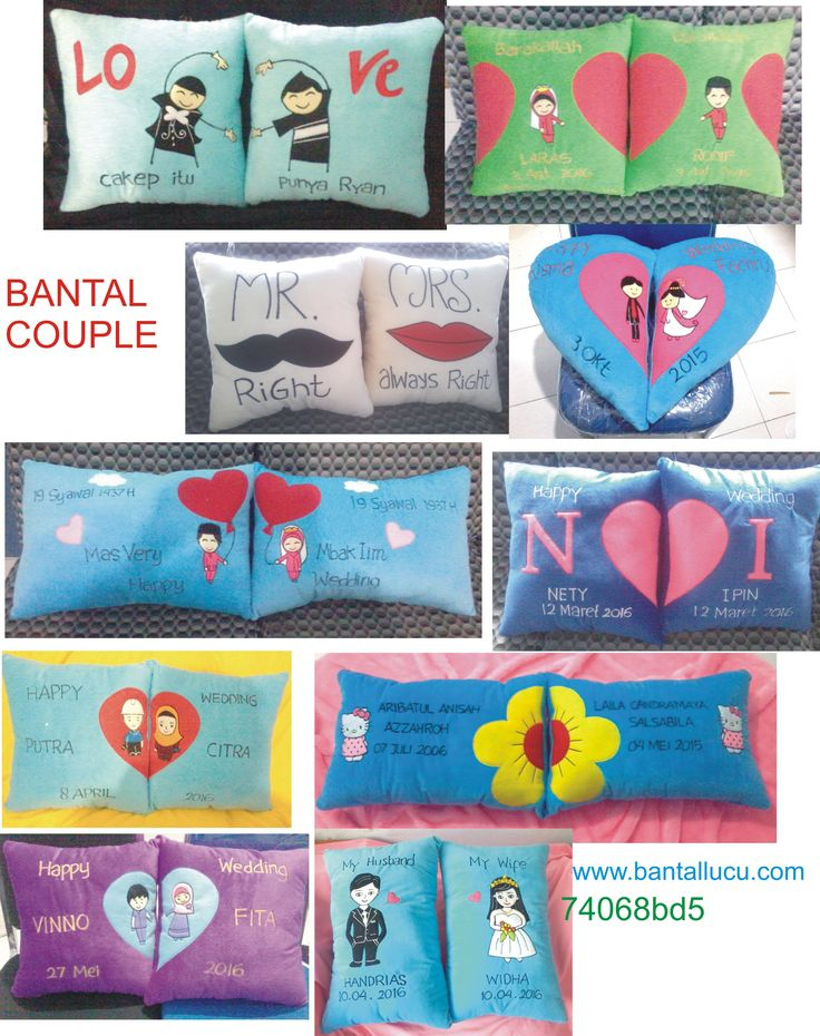 Bantal couple #FunnyPillow #Souvenir #Gift
