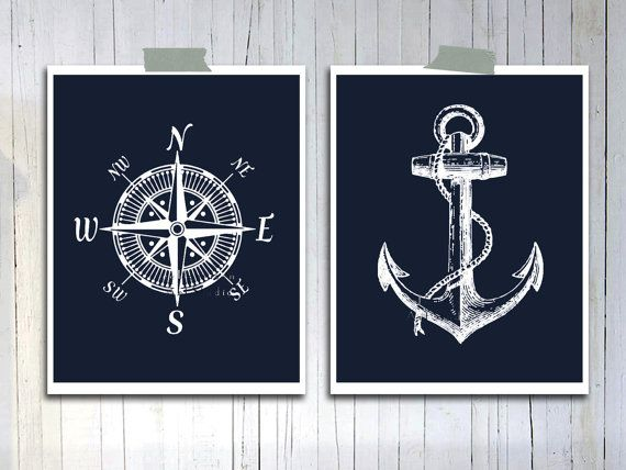 Nautical decor Giclee poster print Fathers day gift by EEartstudio, $17.00