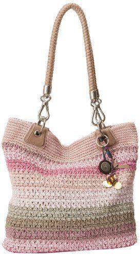 The SAK Bennett Crochet Small Tote,Selma Stripe,One Size The…