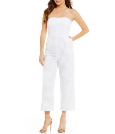 Laundry by Shelli Segal Strapless Eyelet Jumpsuit #Dillards