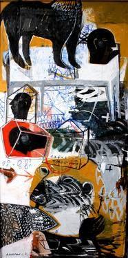 "Rusudan Khizanishvili; Painting, ""Clockwise"""