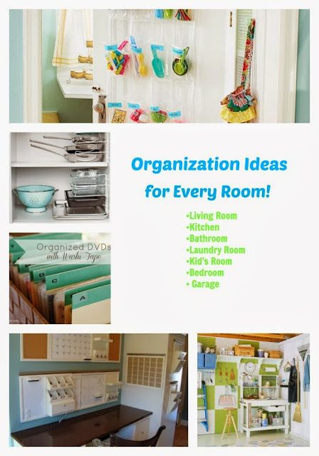 #DIY Organizing ideas for every room. Using these to meet my New Years Resolution! #organization