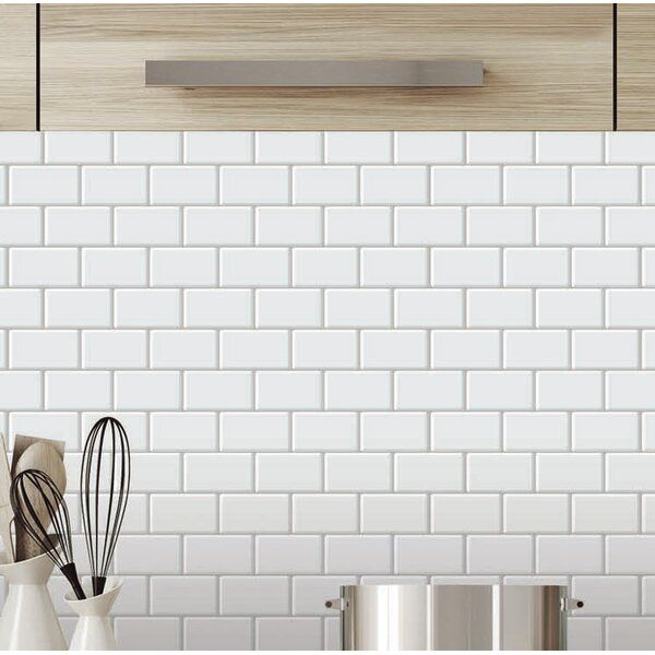 12 X 12 Pvc Peel Stick Subway Tile Stick On Tiles Self Adhesive Backsplash Peal And Stick Backsplash