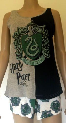 Harry-Potter-Womens-Pyjamas-Goblet-of-Fire-Primark-Shorts-Tshirt-Gryffindor