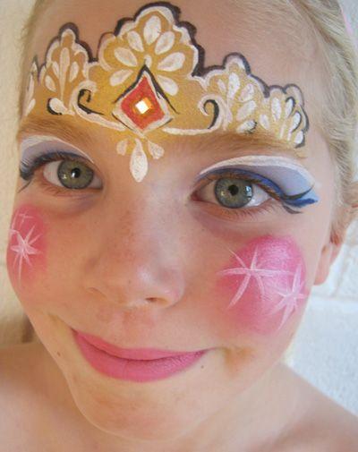 Trucco del viso per Carnevale per bambini da principessa n.1