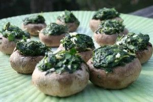 For Easter: Spinach Stuffed Mushrooms
