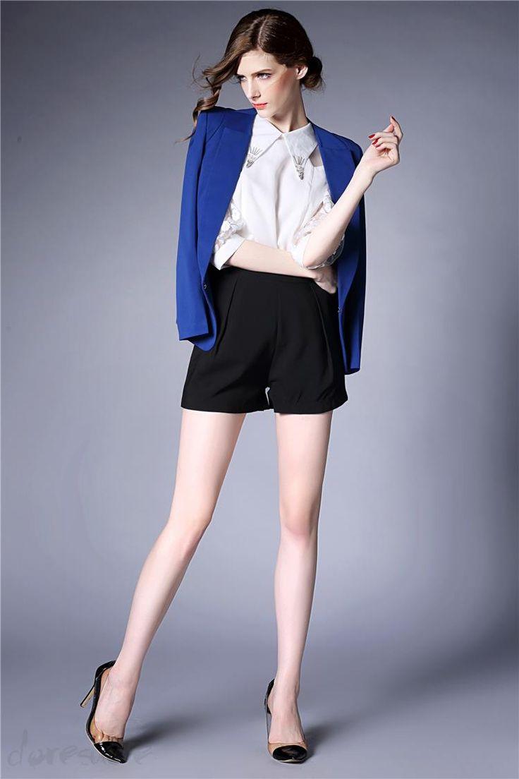 Doresuwe.com SUPPLIES 欧米セレブ愛用新品 2015秋ファッション ハイエンド大物 無地着やせ スーツコート スーツ (15)