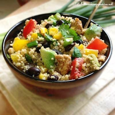 If you love taco themed meals, then try Couscous Taco Salad. It is easy to prepare and uses the healthy grain of couscous. Make a large batch to enjoy!