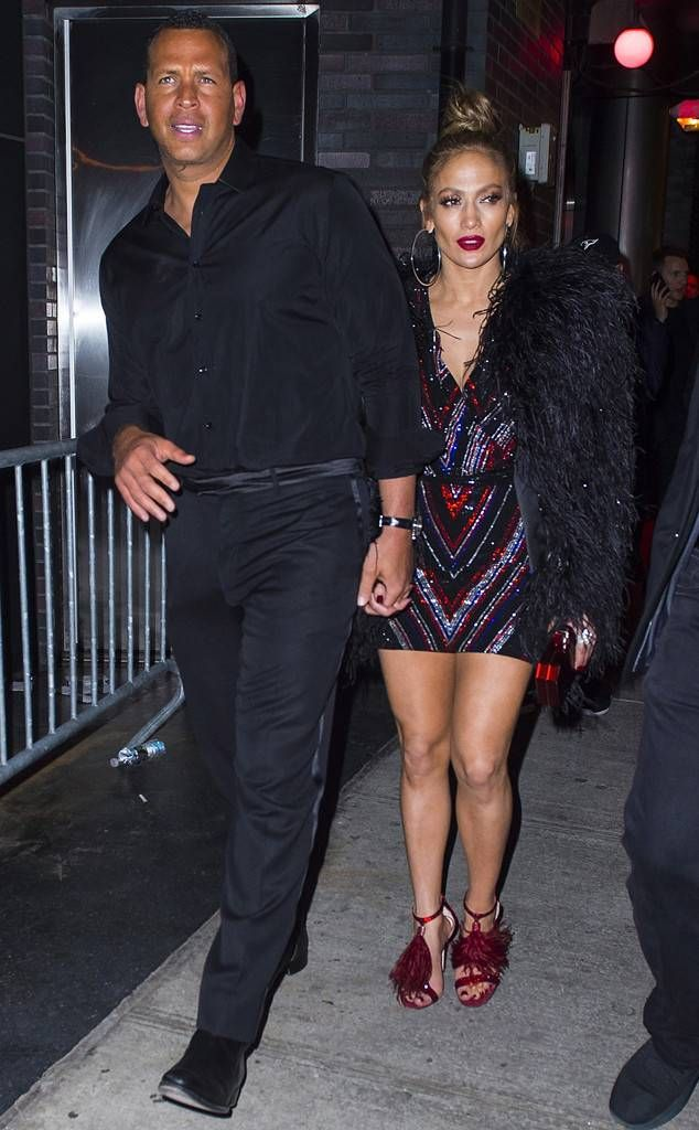 1506c76a456 Jennifer Lopez and Alex Rodriguez from 2018 Met Gala After-Party Pics