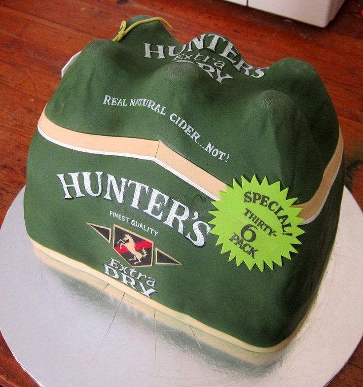 One of our clients LOVES Hunter's Dry so we organized a cake in his favourite drink for his birthday baked by a lady who owns Vanilla Rose CT.