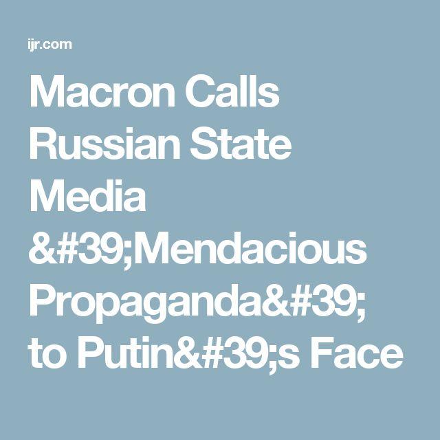 Macron Calls Russian State Media 'Mendacious Propaganda' to Putin's Face