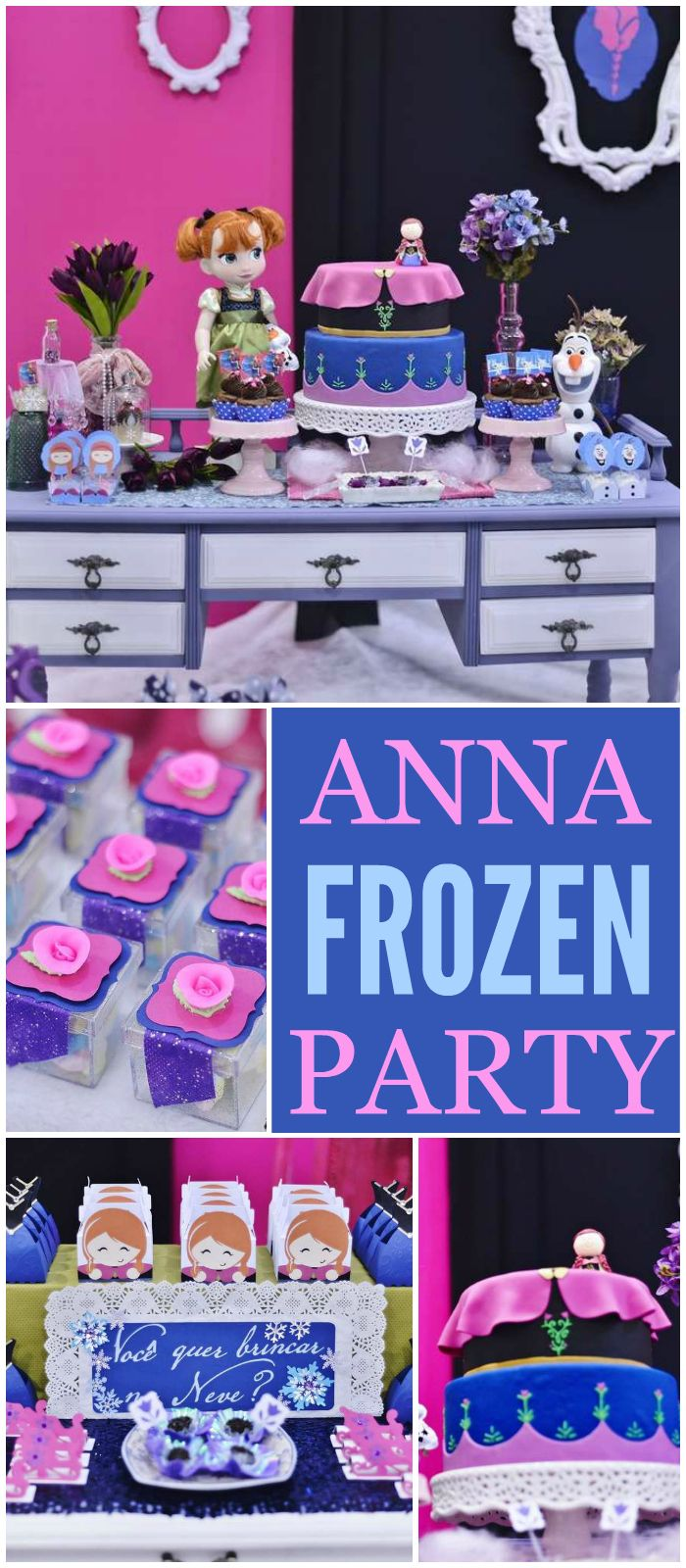 This fabulous Frozen birthday party features Anna!