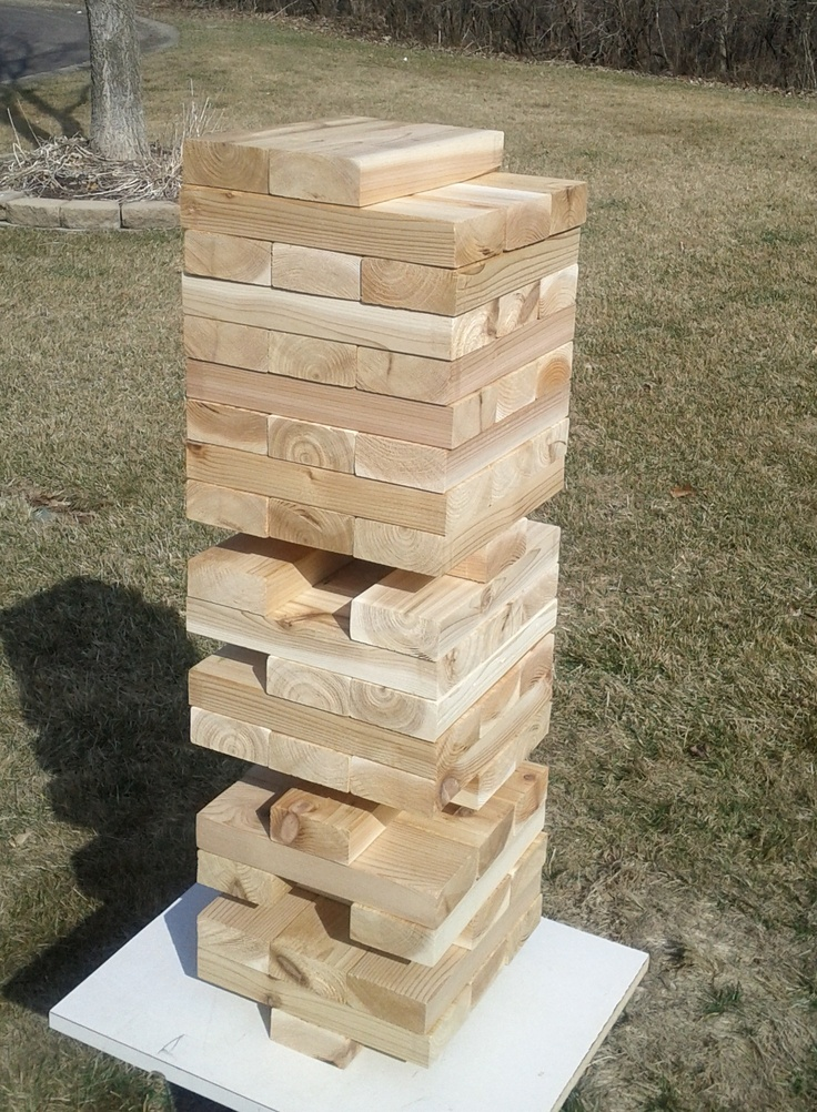 lawn jenga life size version of the game made out of cedar 2x4s i want back yard pinterest. Black Bedroom Furniture Sets. Home Design Ideas