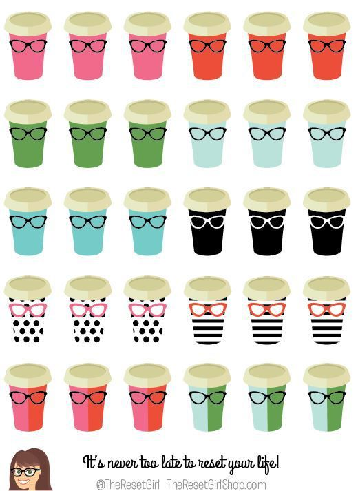 Lady Boss Coffee Cup Icons - TheResetGirlShop