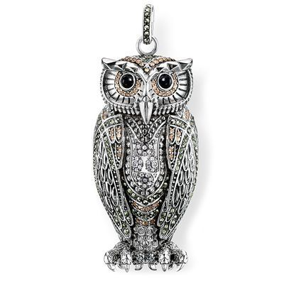 Isn't he #devine?!?  <3        Owl Queen of the Night Pendant - AW14 : Thomas Sabo-Lines-Glam 'n' Soul