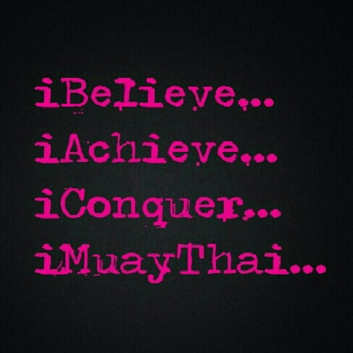 I cant live without Muay Thai --- true enough!!!
