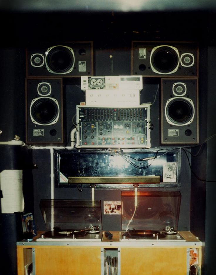 Ubiquity Records DJ Booth at the Hacienda nightclub in Manchester