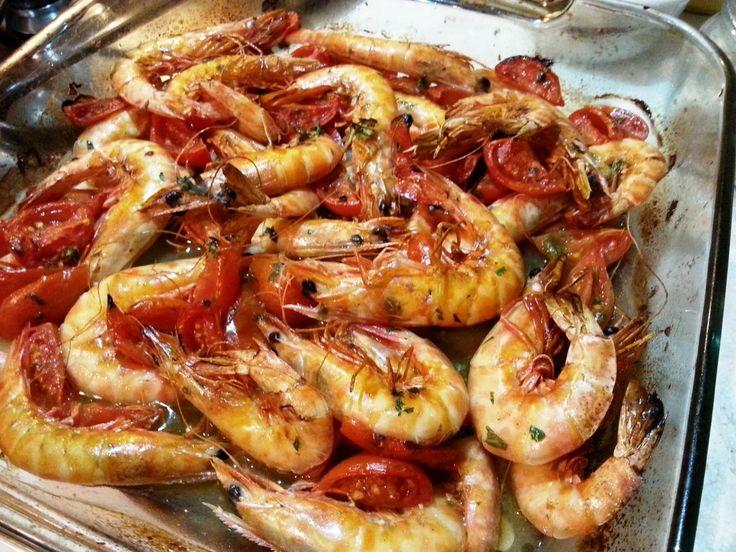 Langostinos marinados al horno - Mazzancolle in guazzetto Pinterest ;) | https://pinterest.com/cocinadosiempre/