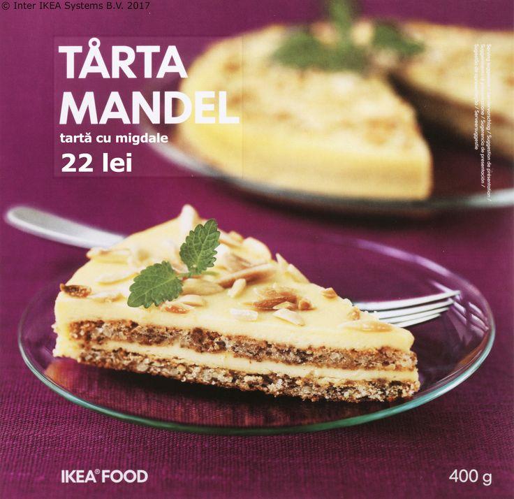 Când ai poftă de ceva dulce e bine să ai pe aproape tortul TÅRTA MANDEL. Prăjitura noastră cu blat de migdale și cremă de unt te așteaptă la Magazinul de Delicatese Suedeze.