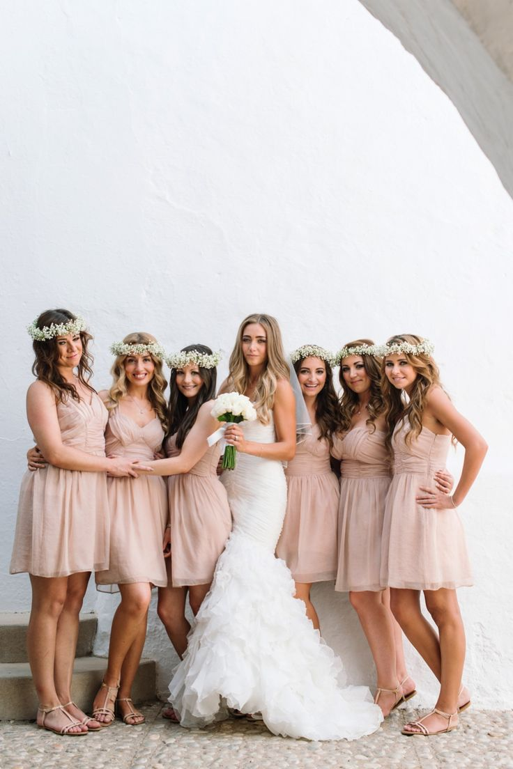 Lucinda found her beautiful nude bridesmaid dresses in Primark! They cost £5 each! Photography Ana Lui #budget #bridesmaid #dresses
