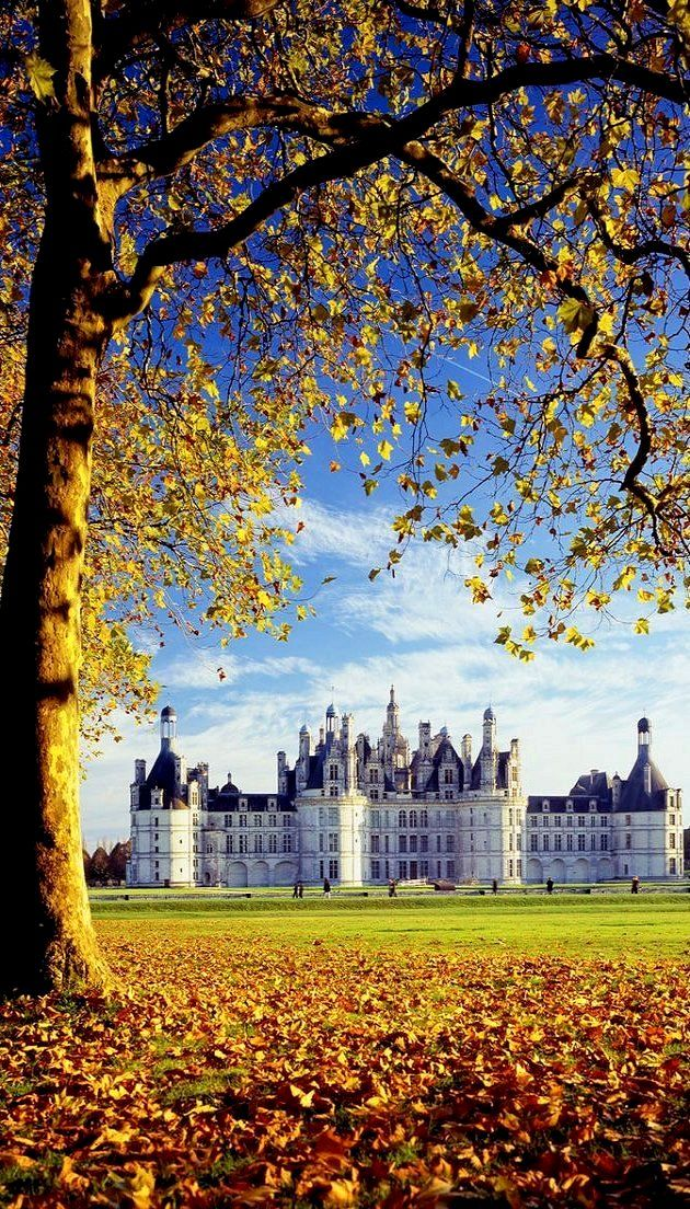 Chateaux de Chambord, Loire Valley, France in the fall...